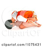 Clipart 3d Woman In A Yoga Childs Pose Royalty Free CGI Illustration by Ralf61