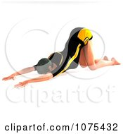 Clipart 3d Fit Woman In A Yoga Childs Pose Royalty Free CGI Illustration by Ralf61