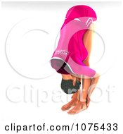 Clipart 3d Fit Woman In The Yoga Standing Forward Fold Or Uttanasana Yoga Pose Royalty Free CGI Illustration by Ralf61