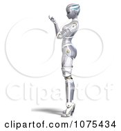 Clipart 3d Futuristic Female Sci Fi Robot Beckoning Royalty Free CGI Illustration by Ralf61