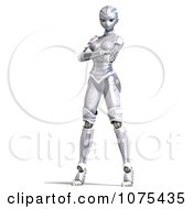 Clipart 3d Futuristic Female Sci Fi Robot Standing 2 Royalty Free CGI Illustration by Ralf61