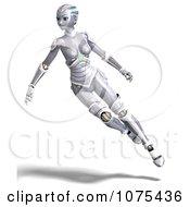 Clipart 3d Futuristic Female Sci Fi Robot Floating Royalty Free CGI Illustration