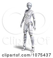 Clipart 3d Futuristic Female Sci Fi Robot Standing 1 Royalty Free CGI Illustration