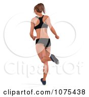 Clipart 3d Health Fit And Strong Athletic Woman Running 6 Royalty Free CGI Illustration by Ralf61