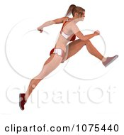Clipart 3d Health Fit And Strong Athletic Woman Running 3 Royalty Free CGI Illustration by Ralf61