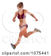 Clipart 3d Health Fit And Strong Athletic Woman Running 4 Royalty Free CGI Illustration by Ralf61