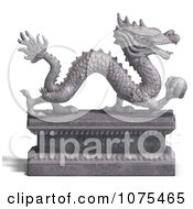 Clipart 3d Stone Dragon Statue 1 Royalty Free CGI Illustration by Ralf61