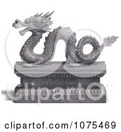 Clipart 3d Stone Dragon Statue 6 Royalty Free CGI Illustration by Ralf61