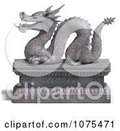 Clipart 3d Stone Dragon Statue 8 Royalty Free CGI Illustration