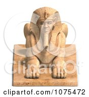 Clipart 3d Sandstone Egyptian Sphinx Statue 1 Royalty Free CGI Illustration by Ralf61