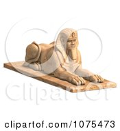 Clipart 3d Sandstone Egyptian Sphinx Statue 2 Royalty Free CGI Illustration