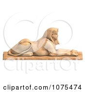 Clipart 3d Sandstone Egyptian Sphinx Statue 3 Royalty Free CGI Illustration