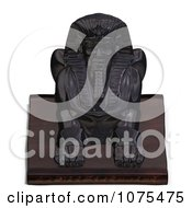 Clipart 3d Black Egyptian Sphinx Statue 3 Royalty Free CGI Illustration