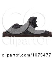 Clipart 3d Black Egyptian Sphinx Statue 1 Royalty Free CGI Illustration