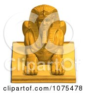 Clipart 3d Golden Egyptian Sphinx Statue 1 Royalty Free CGI Illustration
