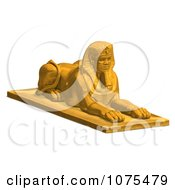Clipart 3d Golden Egyptian Sphinx Statue 2 Royalty Free CGI Illustration