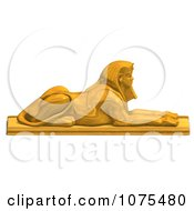 Clipart 3d Golden Egyptian Sphinx Statue 3 Royalty Free CGI Illustration