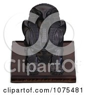 Clipart 3d Black Falcon Statue 1 Royalty Free CGI Illustration by Ralf61
