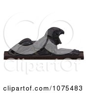 Clipart 3d Black Falcon Statue 3 Royalty Free CGI Illustration