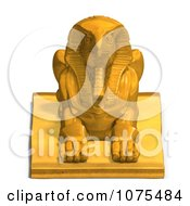 Clipart 3d Gold Falcon Statue 1 Royalty Free CGI Illustration
