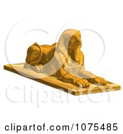 Clipart 3d Gold Falcon Statue 2 Royalty Free CGI Illustration by Ralf61