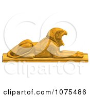 Clipart 3d Gold Falcon Statue 3 Royalty Free CGI Illustration