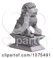 Clipart 3d Stone Fu Dog Statue 1 Royalty Free CGI Illustration by Ralf61