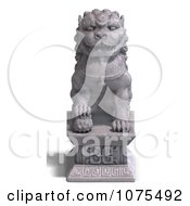 Clipart 3d Stone Fu Dog Statue 3 Royalty Free CGI Illustration by Ralf61