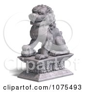 Clipart 3d Stone Fu Dog Statue 4 Royalty Free CGI Illustration by Ralf61