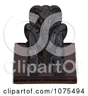 Clipart 3d Black Ram Statue 1 Royalty Free CGI Illustration by Ralf61
