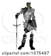 Clipart 3d Skeleton King Warrior With A Sword And Shield 1 Royalty Free CGI Illustration by Ralf61