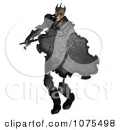 Clipart 3d Skeleton King Warrior With A Sword And Shield 2 Royalty Free CGI Illustration by Ralf61