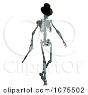 Clipart 3d Skeleton Wearing A Top Hat And Walking With A Cane Royalty Free CGI Illustration by Ralf61