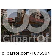 Clipart 3d Andoria Patio Architecture Scene Royalty Free CGI Illustration