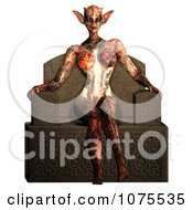Clipart 3d Alien Queen Sitting On Her Throne 1 Royalty Free CGI Illustration by Ralf61