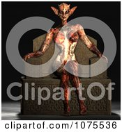 Clipart 3d Alien Queen Sitting On Her Throne 2 Royalty Free CGI Illustration by Ralf61