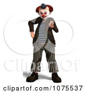 Clipart 3d Clown Beckoning Royalty Free CGI Illustration by Ralf61