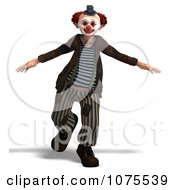 Clipart 3d Clown Dancing 4 Royalty Free CGI Illustration by Ralf61