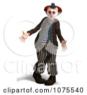 Clipart 3d Clown Dancing 3 Royalty Free CGI Illustration by Ralf61
