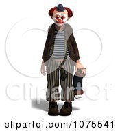 Clipart 3d Clown With An Accordion 1 Royalty Free CGI Illustration by Ralf61