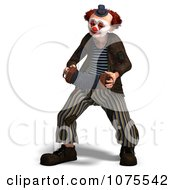Clipart 3d Clown With An Accordion 2 Royalty Free CGI Illustration by Ralf61