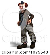 Clipart 3d Clown With An Accordion 4 Royalty Free CGI Illustration by Ralf61