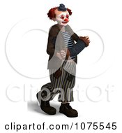 Clipart 3d Clown With An Accordion 6 Royalty Free CGI Illustration by Ralf61
