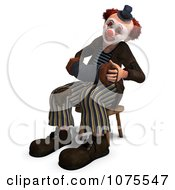 Clipart 3d Clown With An Accordion 8 Royalty Free CGI Illustration by Ralf61