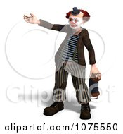 Clipart 3d Clown With An Accordion 11 Royalty Free CGI Illustration by Ralf61