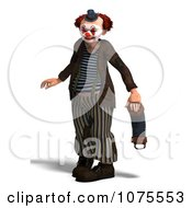 Clipart 3d Clown With An Accordion 14 Royalty Free CGI Illustration by Ralf61