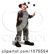 Clipart 3d Clown Juggling 1 Royalty Free CGI Illustration by Ralf61