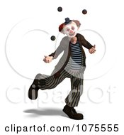 Clipart 3d Clown Juggling 2 Royalty Free CGI Illustration by Ralf61