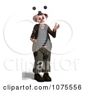 Clipart 3d Clown Juggling 3 Royalty Free CGI Illustration by Ralf61