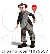 Clipart 3d Clown With A Balloon 1 Royalty Free CGI Illustration by Ralf61